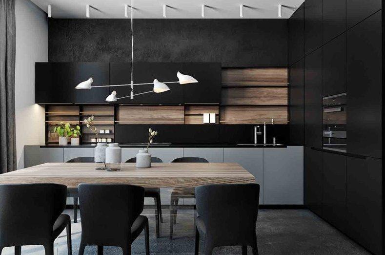 Тренды в дизайне современных кухонь - без ручек 1
