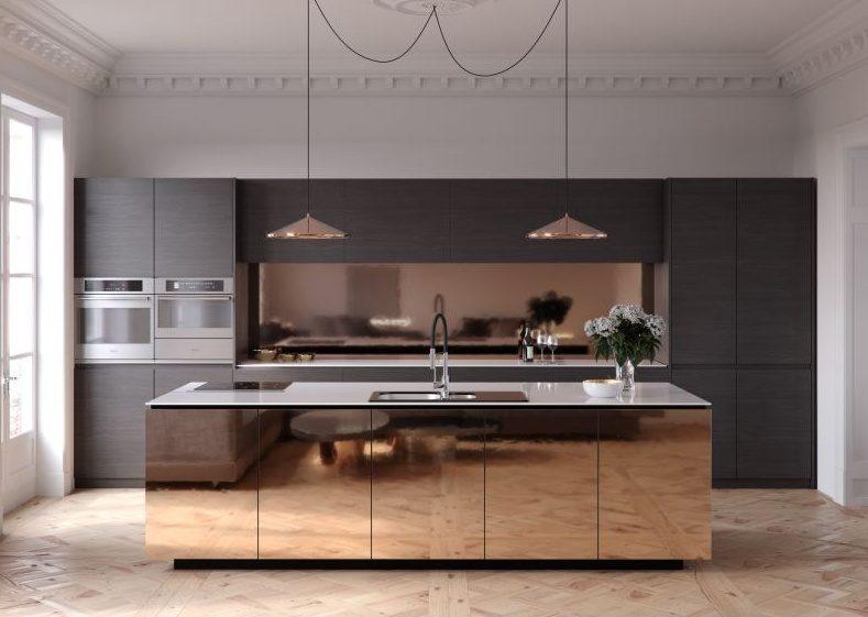 Тренды в дизайне современных кухонь - Металл 1