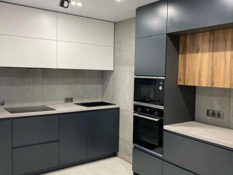 Кухня двухзонная в скандинавском стиле